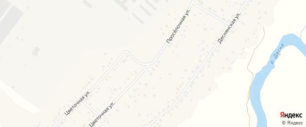 Цветочная улица на карте деревни Добруни с номерами домов