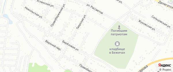 Спасская улица на карте Брянска с номерами домов