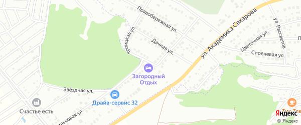 Проезд Новоселов на карте Брянска с номерами домов