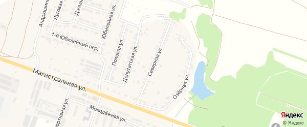 Северная улица на карте Мичуринского поселка с номерами домов