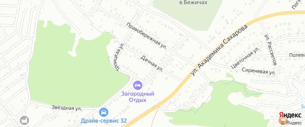 Дачная улица на карте Брянска с номерами домов