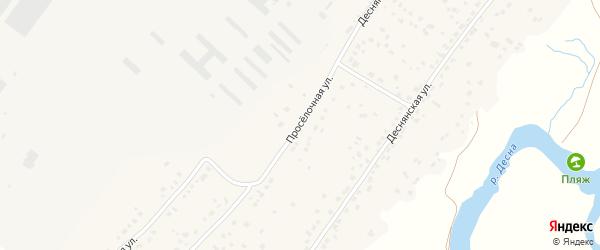 Проселочная улица на карте деревни Добруни с номерами домов