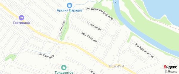Переулок Стасова на карте Брянска с номерами домов