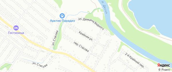 Крайняя улица на карте Брянска с номерами домов