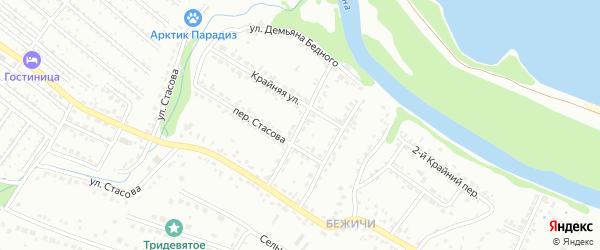 Улица Бородина на карте Брянска с номерами домов