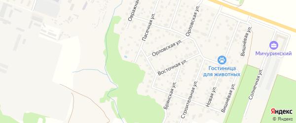 1-й Орловский переулок на карте Мичуринского поселка с номерами домов