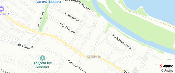 Переулок 3-й Демьяна Бедного на карте Брянска с номерами домов