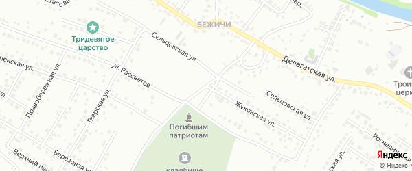 Жуковская улица на карте Брянска с номерами домов