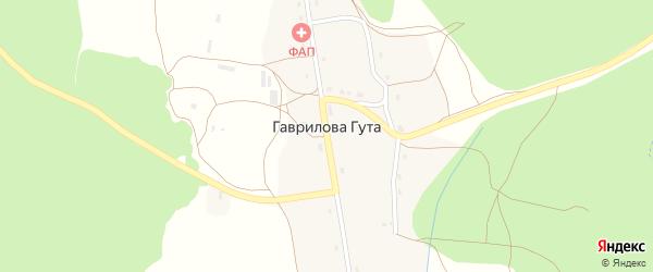 Овражная улица на карте деревни Гавриловой Гуты с номерами домов