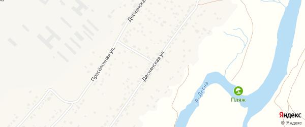 Солнечная улица на карте деревни Добруни с номерами домов