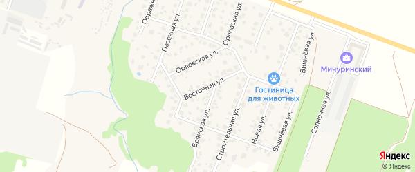 Восточная улица на карте Мичуринского поселка с номерами домов