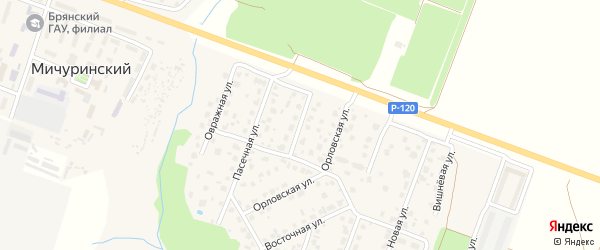2-й Орловский переулок на карте Мичуринского поселка с номерами домов