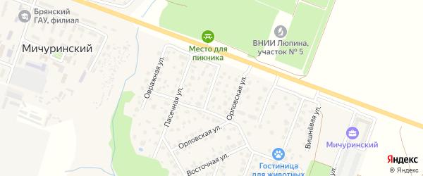 Орловский переулок на карте Брянска с номерами домов