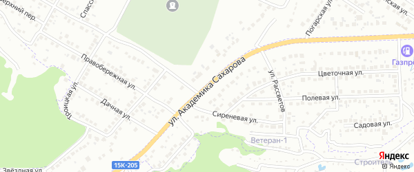 Улица академика Сахарова на карте Брянска с номерами домов