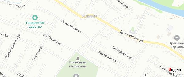 Мартовская улица на карте Брянска с номерами домов