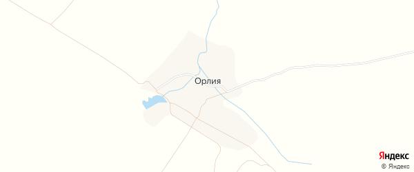 Карта села Орлия в Брянской области с улицами и номерами домов