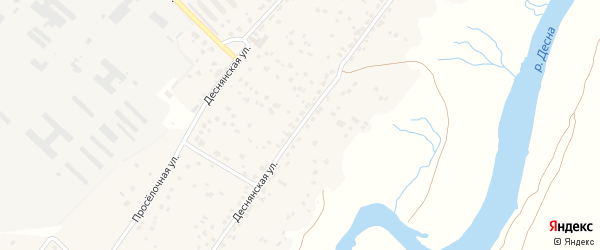 Деснянская улица на карте деревни Добруни с номерами домов