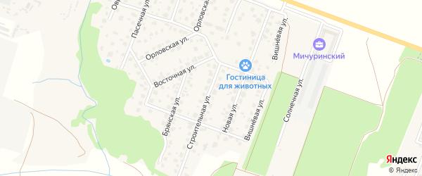 Строительная улица на карте Мичуринского поселка с номерами домов