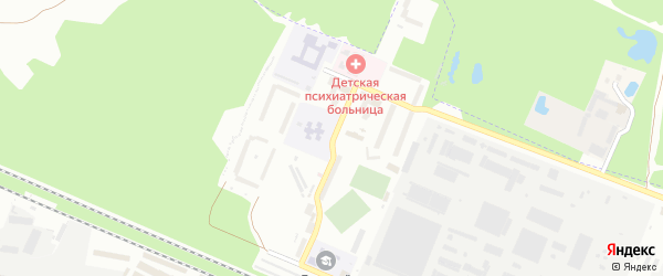 Вокзальный микрорайон на карте Брянска с номерами домов