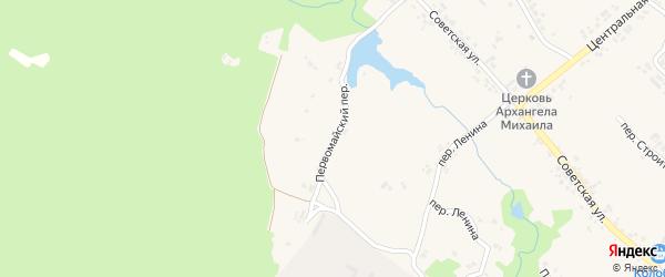 Первомайский переулок на карте поселка Кокоревки с номерами домов