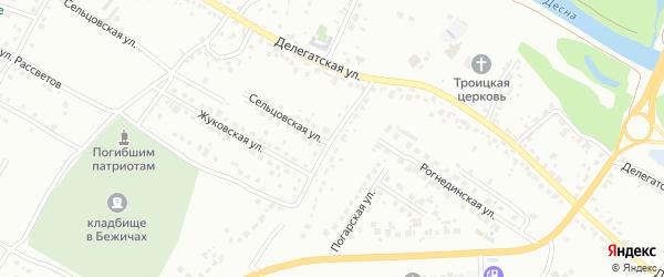 Переулок Каманина на карте Брянска с номерами домов