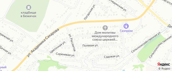 Цветочная улица на карте Брянска с номерами домов