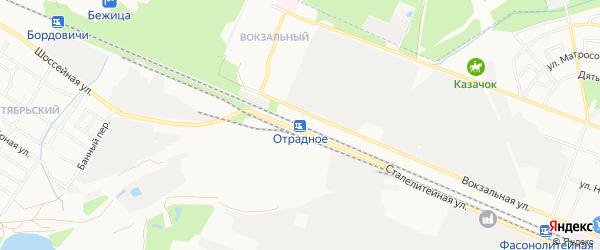 Территория ГО Отрадное на карте Брянска с номерами домов