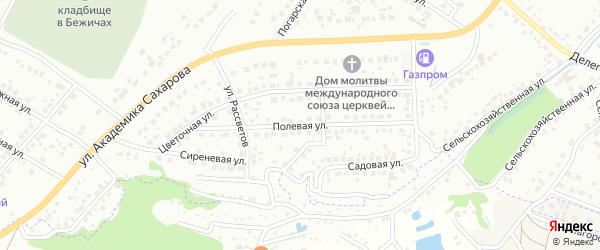 Полевая улица на карте Брянска с номерами домов