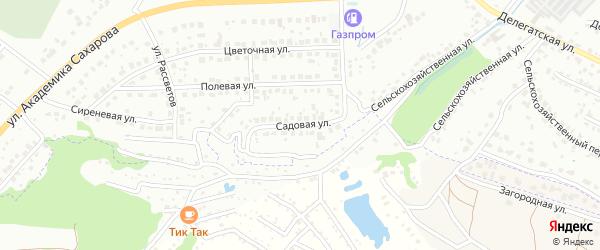 Садовая улица на карте Брянска с номерами домов