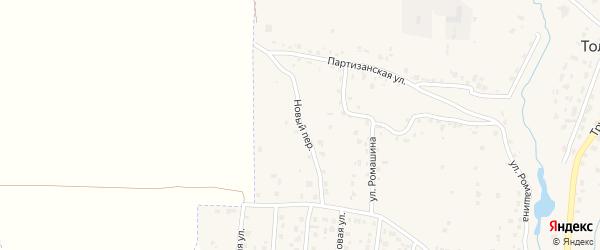 Новый переулок на карте села Толмачево с номерами домов