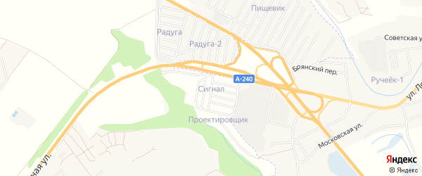 СТ сдт Сигнал на карте территории Добрунского сельского поселения с номерами домов