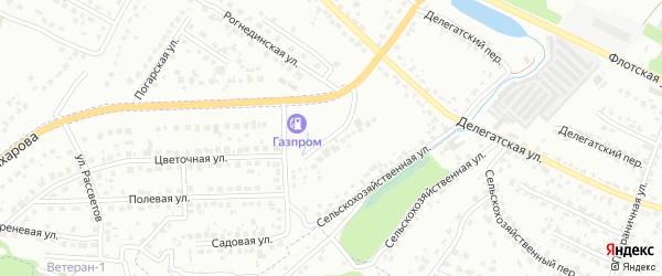 Каштановая улица на карте Брянска с номерами домов