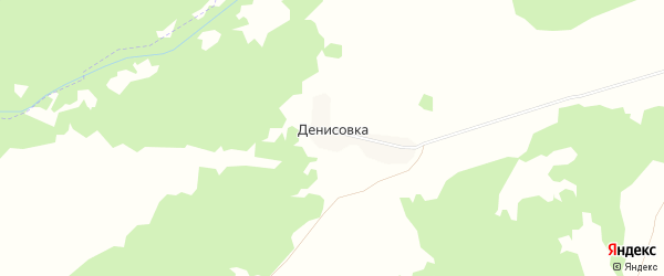 Карта деревни Денисовки в Брянской области с улицами и номерами домов