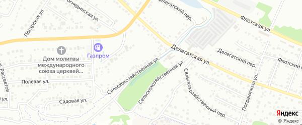 Сельскохозяйственная улица на карте Брянска с номерами домов