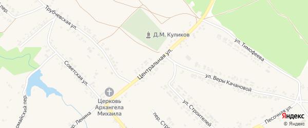 Центральная улица на карте поселка Кокоревки с номерами домов