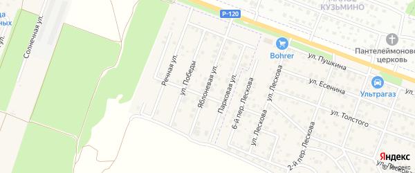 Яблоневая улица на карте Мичуринского поселка с номерами домов