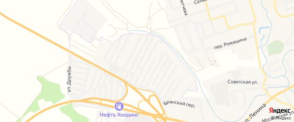 Территория СО Пищевик на карте Брянска с номерами домов
