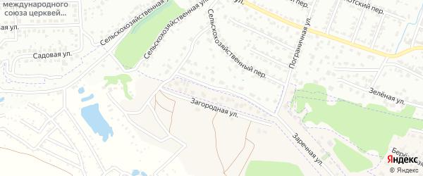 5-й Сельскохозяйственный переулок на карте Брянска с номерами домов