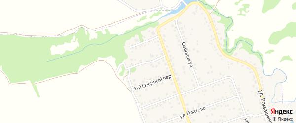 Озерный 2-й переулок на карте деревни Антоновки с номерами домов