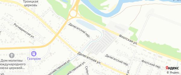 Делегатский переулок на карте Брянска с номерами домов