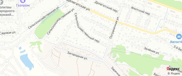 Сельскохозяйственный переулок на карте Брянска с номерами домов