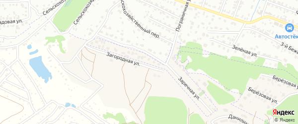Улица Загородная (10-й микрорайон) на карте поселка Путевки с номерами домов