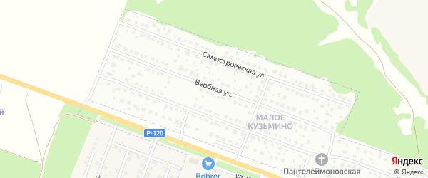 Вербная улица на карте Брянска с номерами домов