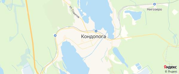 Карта Кондопоги с районами, улицами и номерами домов