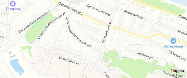 2-й Сельскохозяйственный переулок на карте Брянска с номерами домов