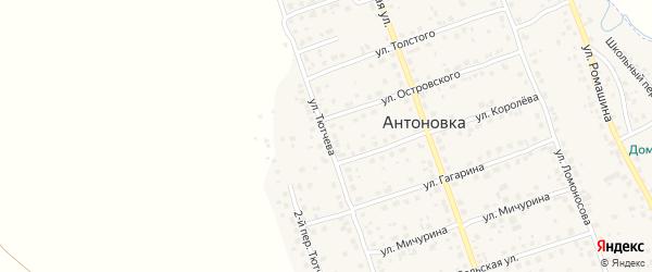 Улица Тютчева на карте деревни Антоновки с номерами домов
