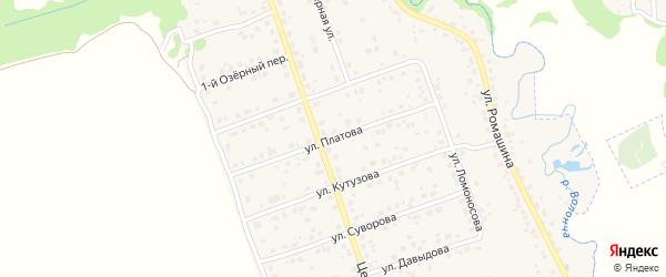 Улица Платова на карте деревни Антоновки с номерами домов