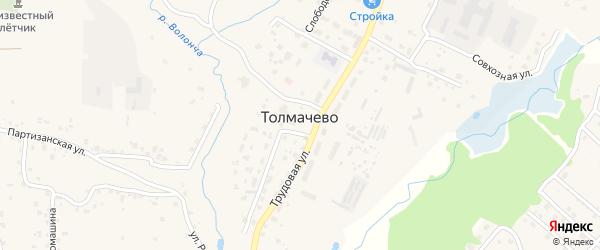 Мирная улица на карте села Толмачево с номерами домов