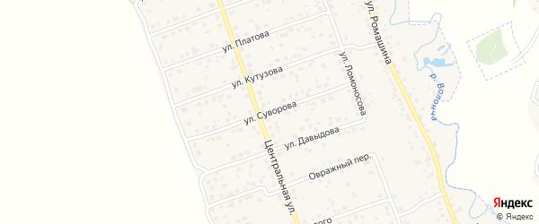 Улица Суворова на карте деревни Антоновки с номерами домов