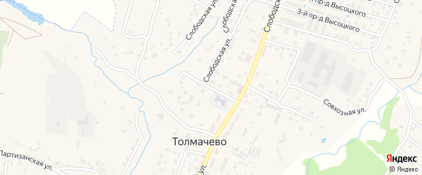 Трудовой переулок на карте села Толмачево с номерами домов
